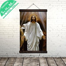 купить!  Иисус Христос Стены Свитка Живопись Холст Старинные Плакат и Печать Стены Искусства Картины Гостиная Лучший!