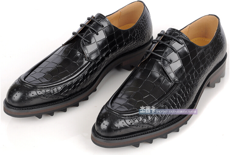 2015 Top Quality Genuine Leather Men Shoes Lace Up ...