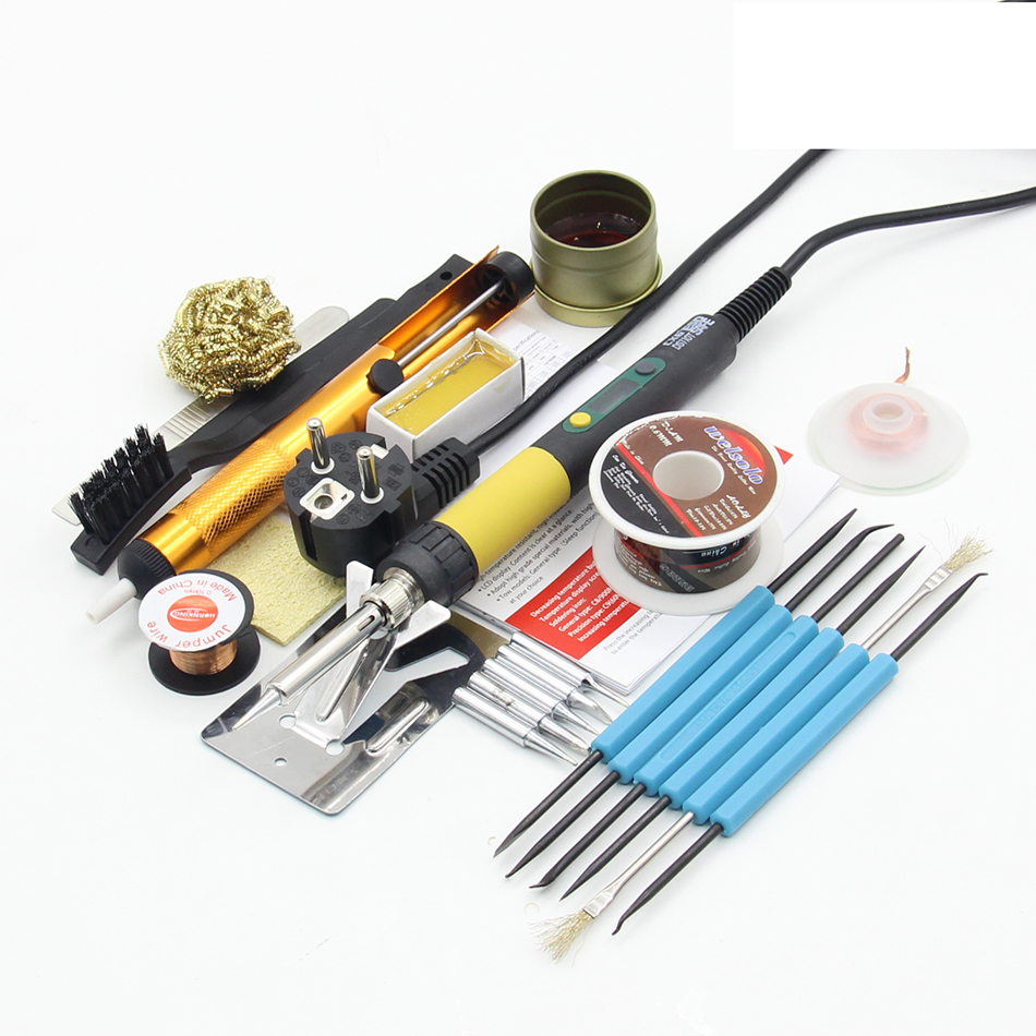 CXG DS110T Electric Soldering Iron 220V 110W Rework Soldering Station Welding Tools Temperature Adjust Soldering Iron 900M Tips