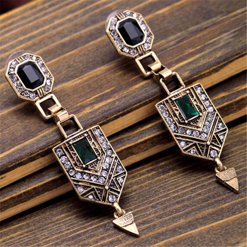 wing yuk tak Brand Vintage Elegant Luxury Beautiful Earrings