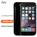 Zely 5600mAh Power Bank Case Phone cases External Battery Pack Backup Charger Case For iPhone 6 6S 7  Battery Power Case Cover