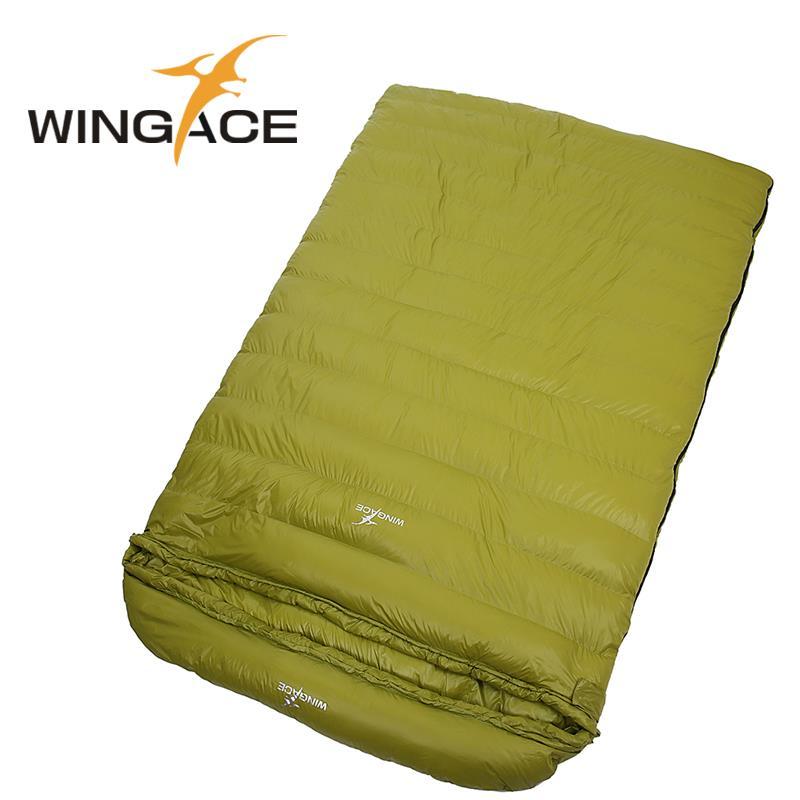 WINGACE Remplir 800g 1200g 1600g 2000g Duvet d'oie Portable Enveloppe Sac de Couchage Camping En Plein Air Randonnée Adulte double Sacs de Couchage