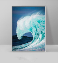 Rolling Waves Surf Sea Landscape Nordic Modern Decorative Painting on Canvas Living Room Wall Artwork Unframed