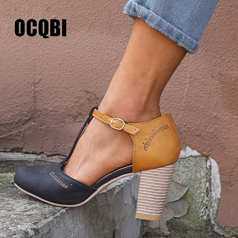 65431a426642 Весенне-Летние кожаные туфли-лодочки женские туфли на ...