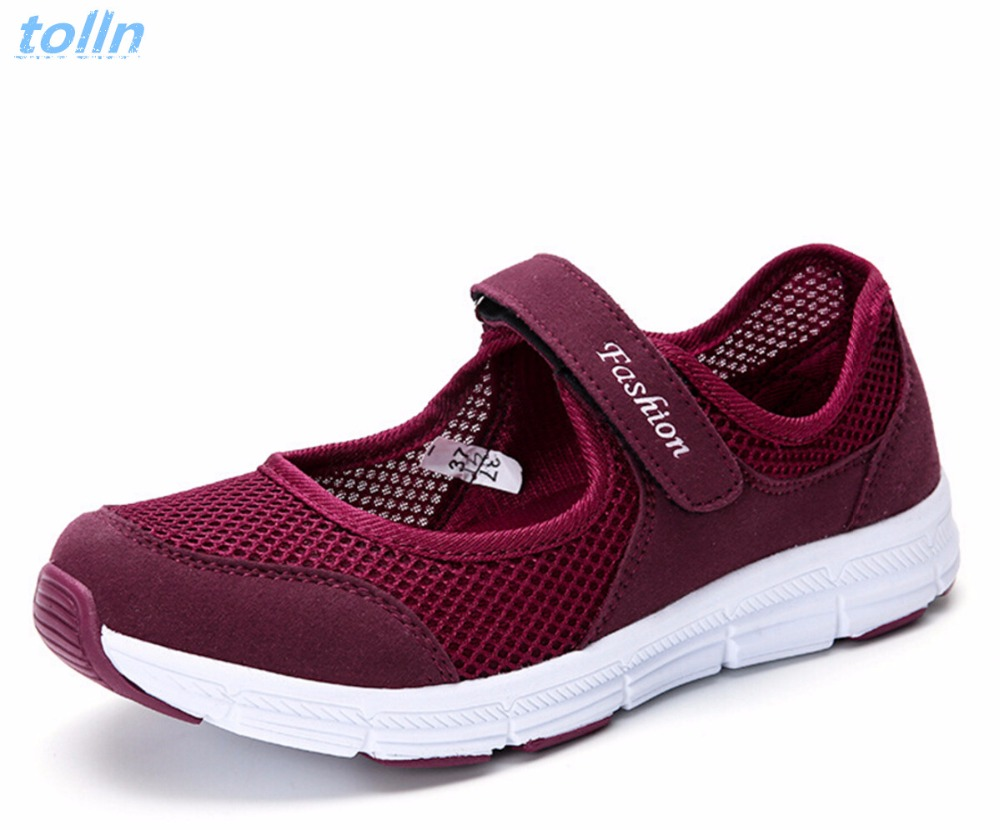 Women flat Shoes 2018Summer lightweight Breathable Shoes Fashion Comfortable Women Soft bottom Casual mesh Shoes Sandals women creepers shoes 2015 summer breathable white gauze hollow platform shoes women fashion sandals x525 50