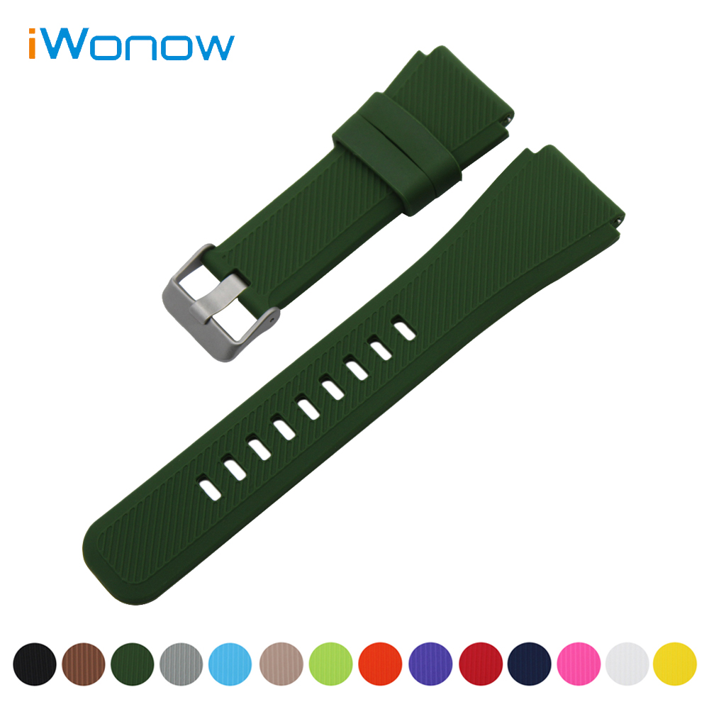 Silicone Rubber Watch Band 21mm 22mm for IWC Watchband Quick Release Strap Stainless Steel Buckle Wrist Link Belt Bracelet