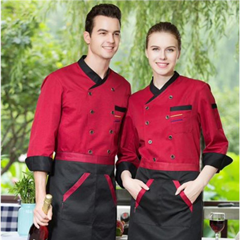 Summer Food Service Chef's Short-sleeved Breathable Outfit Restauant Chef Uniform Clothing Kitchen Cook Wear