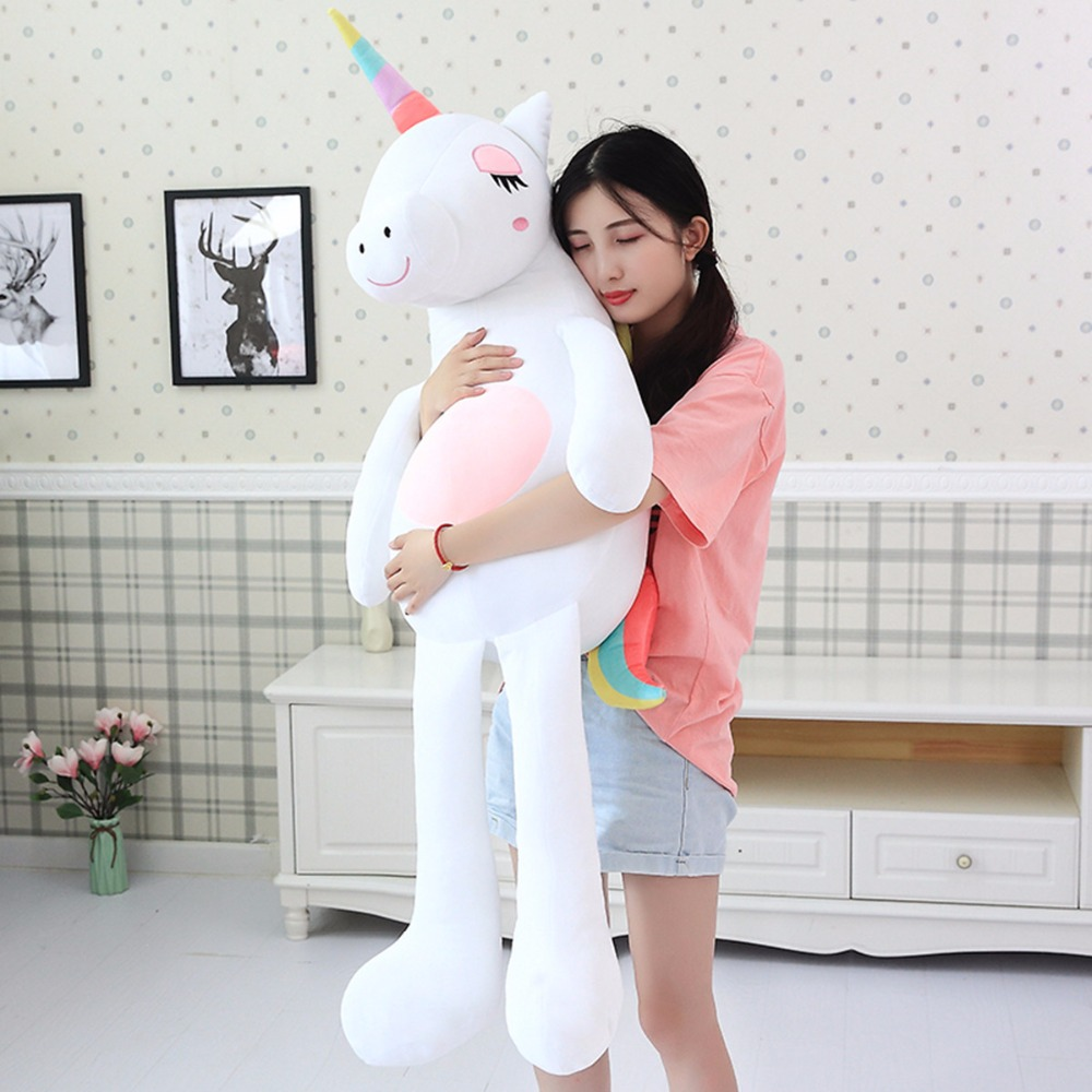 Azoo 140cm Unicorn plush toys cute rainbow horse soft doll stuffed animal soft toys for children gift for girlfriend Xmas gift