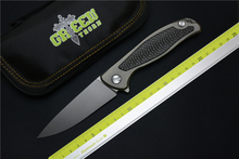Green thorn F95 folding knife D2 blade titanium carbon fiber handle outdoor camping hunting EDC tool