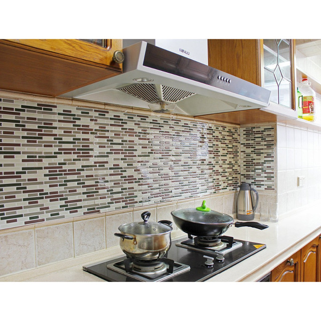 Kitchen Backsplash L And Stick Tiles Faux Subway Glossy Wall 4 Sheets Camper Rv
