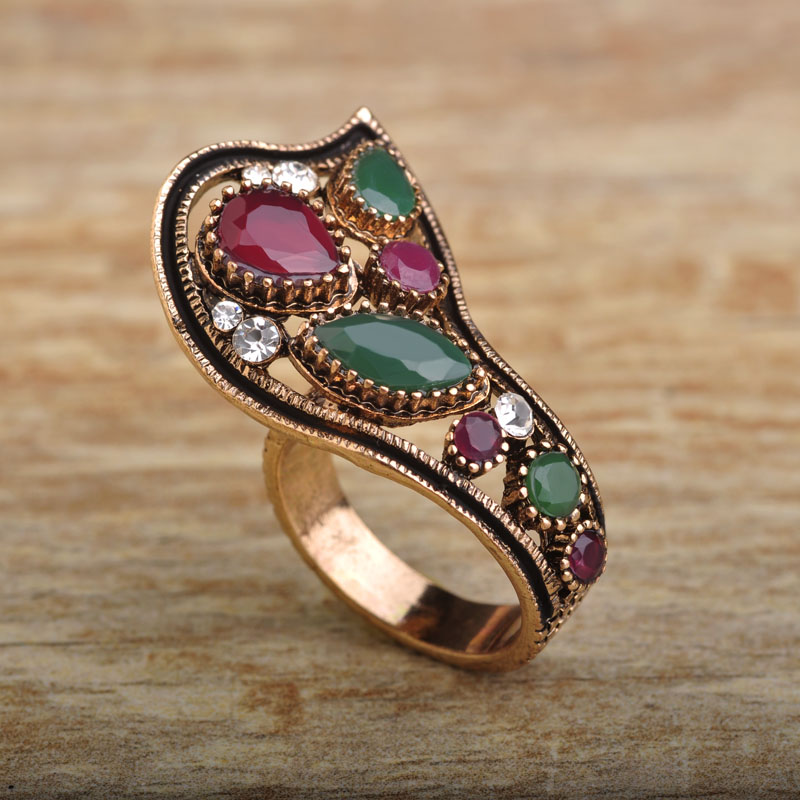 Blu e Vintage Party Rings Women Bridal Turkish Jewelry Antique