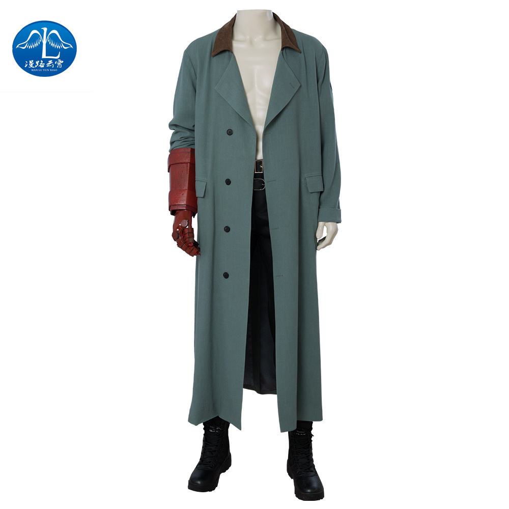 Hellboy Cosplay Costume Movie with Men's Party Bar Gift Adult Clothing Sets Can Be Customized Cosplay Costume  Halloween Costume