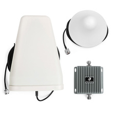 850/1900MHz Home/Office 3G Mobile Phone Amplifier Repeater Booster GSM China 65db Gain with 10m Cable outdoor Antenna