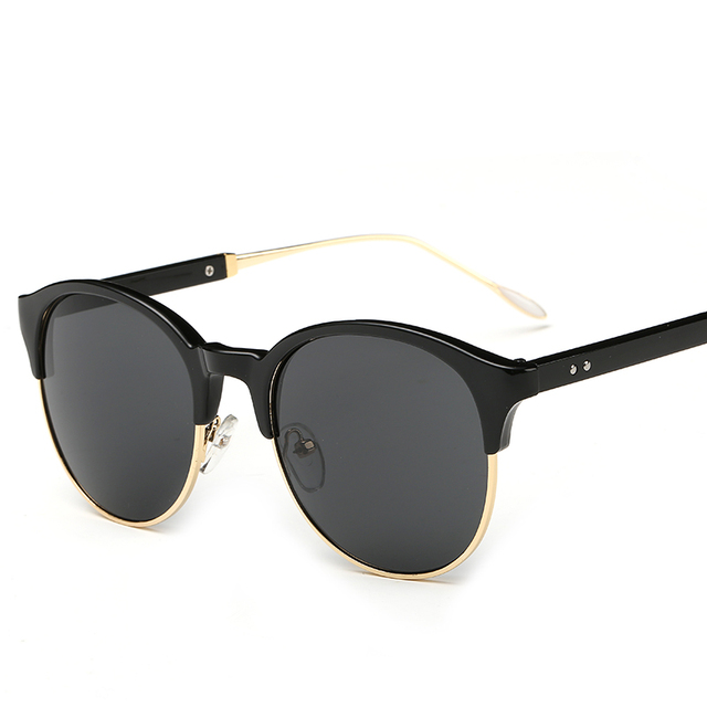 2016 New brand Vintage Sunglasses Women Good Quality Big Frame Hot Selling Sun Glasses 6 Colors