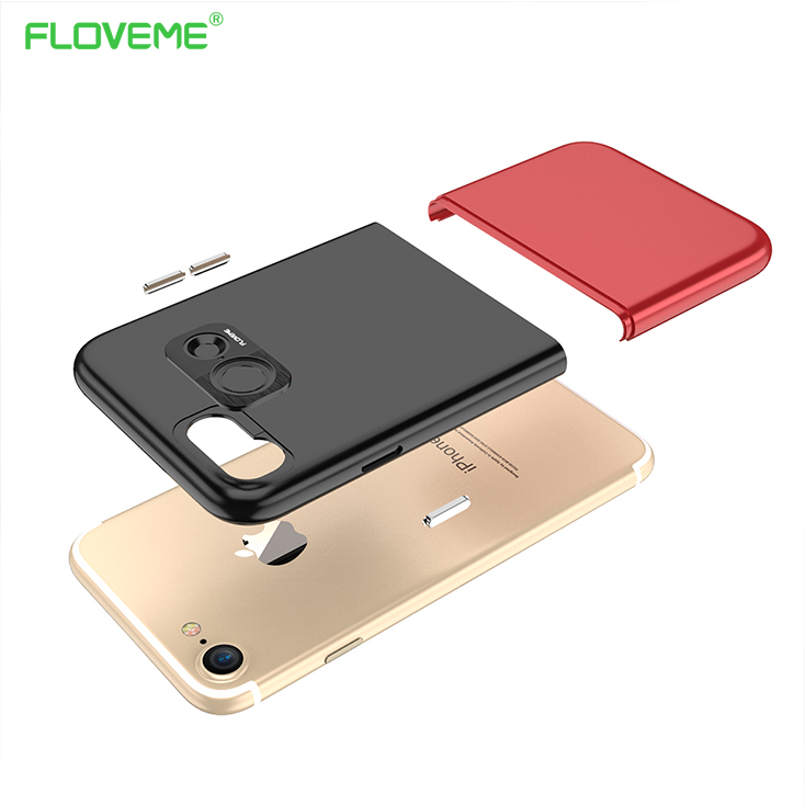 Floveme hit colorful case para iphone 7 lujo 2 en 1 Combo Delgado De Plástico Du