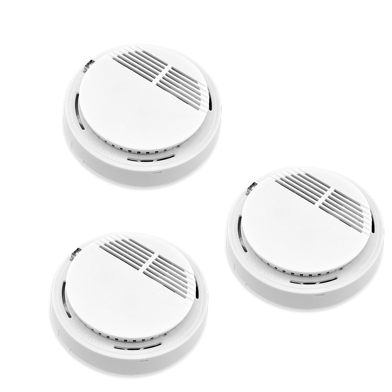 3pcs 433mhz Sensor Sensitive Photoelectric Home Security System Cordless Wireless Smoke Detector Fire Alarm for Home Protection wireless vibration break breakage glass sensor detector 433mhz for alarm system