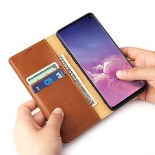 Case For Sumsung Galaxy note10 S10 Plus S10e Luxury Leather Flip Funda Etui Wallet Phone Full Cover accessories shell coque bag