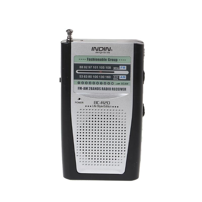 Radio Tragbare Mini Radio Schlanke 2-band Am Fm Welt Receiver Dc 3 V Teleskop Antenne Bc-r20