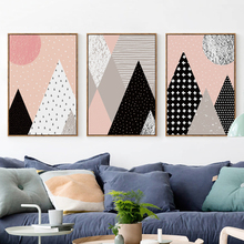 Bianche Wall LNordic Cartoon Geometric Abstraction Canvas Painting Art Print Poster Picture Children Bedroom Decor