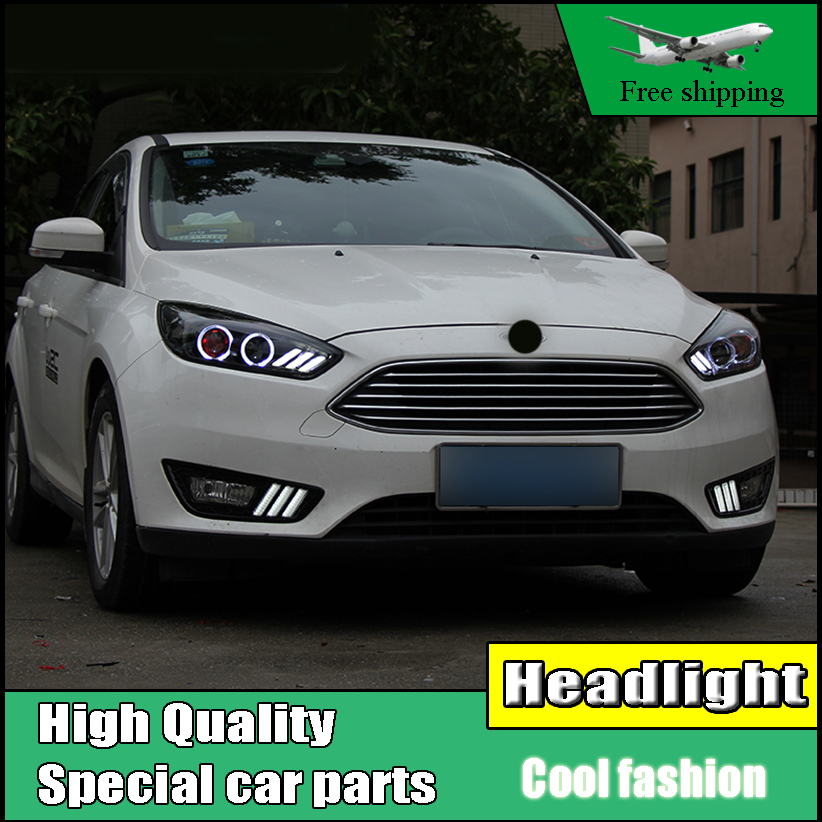 Car Styling Head Lamp Case For Ford Focus Mk3 Headlights 2017 Led Headlight O Angel Eyes Drl Moving Turn Signal In Light Embly From Automobiles
