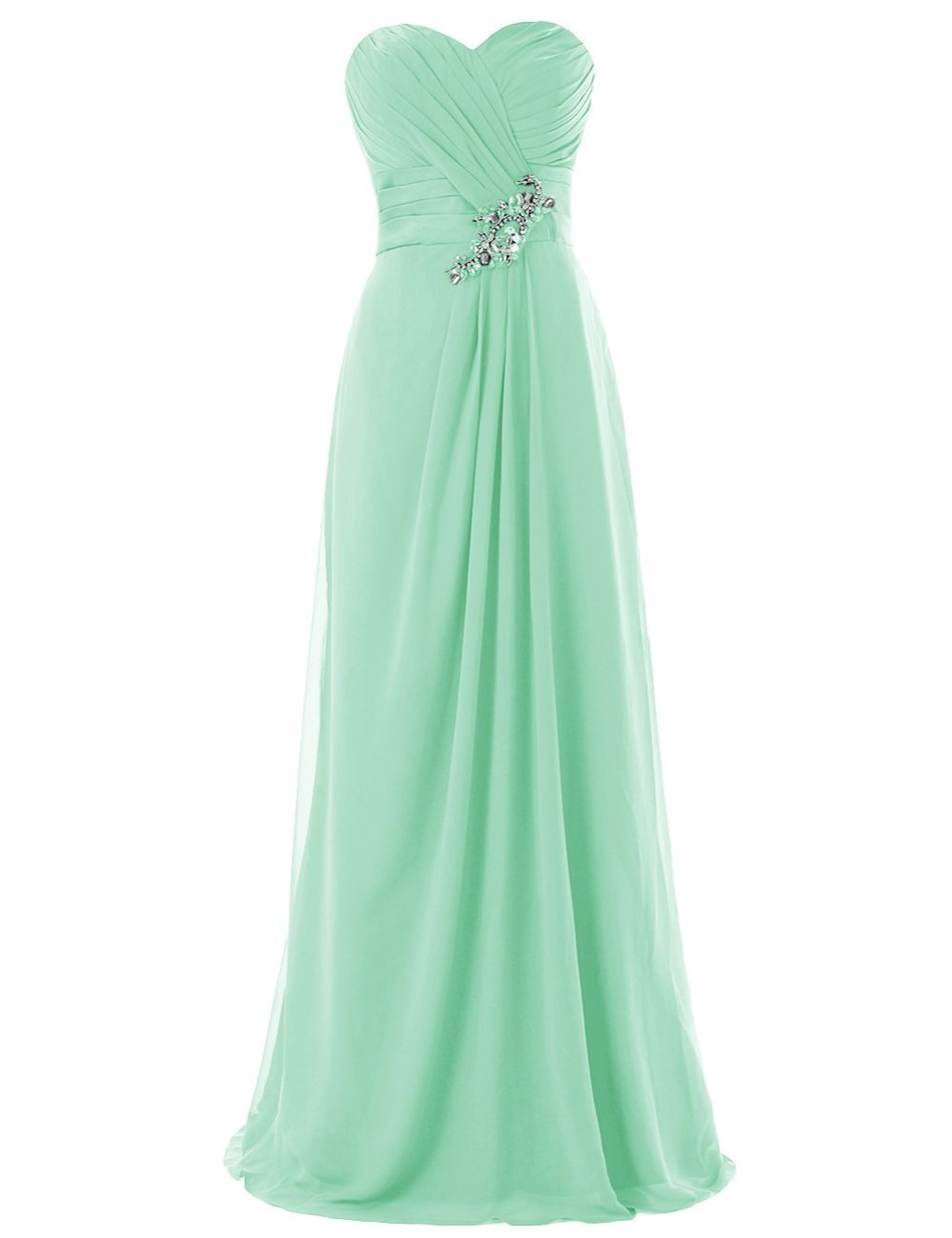 Popular mint green bridesmaids dresses buy cheap mint for Green beach wedding dresses