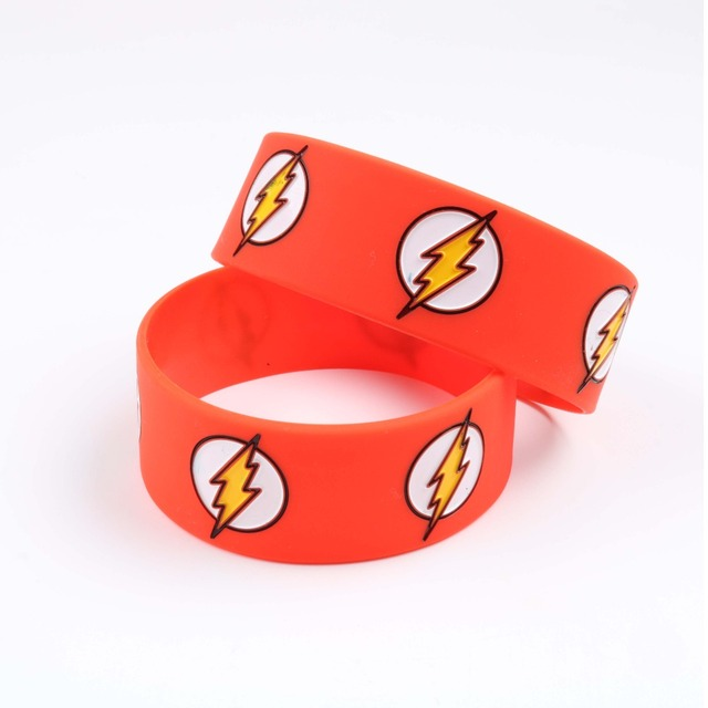 Wholes The Flash Silicone Bracelet Dc Comic Character Wristband Superhero Bracelets Ager Men Women Fashion Jewelry