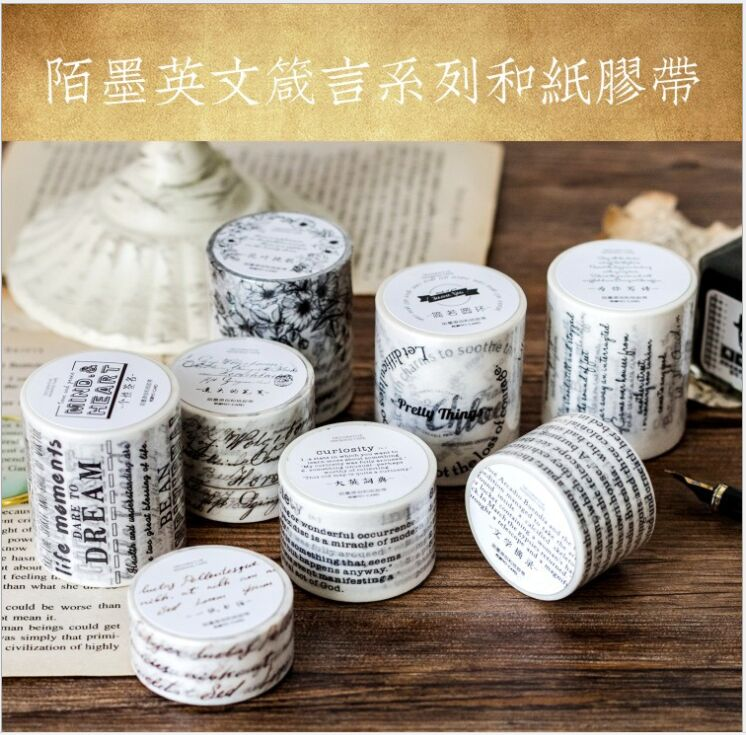 Office & School Supplies Tapes, Adhesives & Fasteners Jianwu 1pc 15mmx5m Black & White Series Foundation Washi Tape Notebook Decoration Scrapbook Diy Office Articles And Stationery