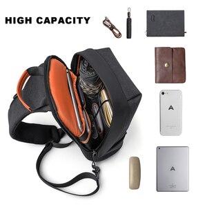 Image 3 - Erkekler askılı çanta Moda Rahat Göğüs Çanta Paketi Anti Hırsızlık Omuz Crossbody çanta Genç seyahat çantası uygun cep telefonu çantası