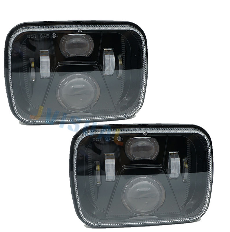 2pcs Headlamp for Jeep YJ XJ Cherokee GMC 5x7