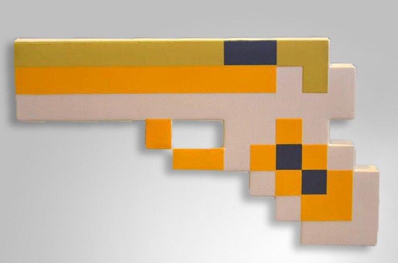 10 Unids Lote Espuma Minecraft Pistola Modelo Juguetes Figura De