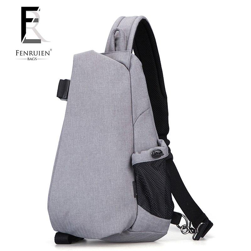 fashion Brand USB Charging Men Crossbody Bag Casual Travel Rucksack Chest Pack Small Sling Bags Men