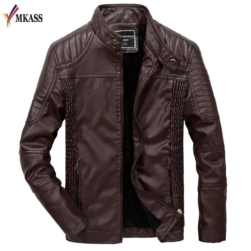 Nouveau décontracté veste en cuir hommes peau de vache vestes en peau de veau moteur Biker manteau homme en cuir manteau Slim taille M-3XL