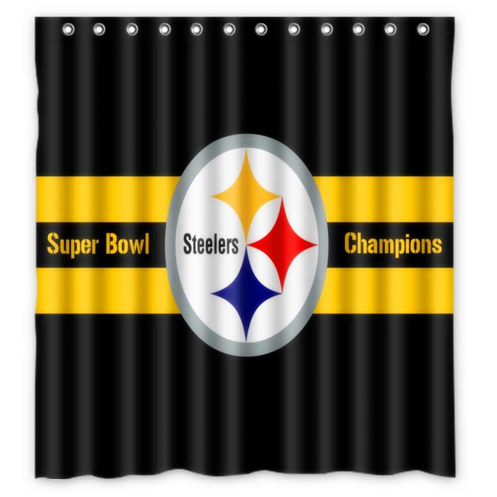 Vixm Shower Curtain Pittsburgh Steelers Waterproof Fabric Bathroom 66x72 Inch In Curtains From Home Garden On Aliexpress