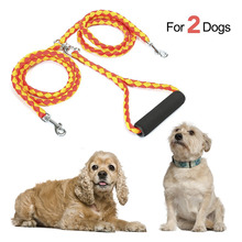 Two Dogs Braided Dual Leash Coupler for Walking Double Lead WALK DOGS COUPLER  Dog Belt fo
