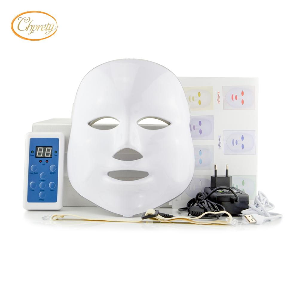 Photon LED mask whitening Anti Aging Skin Care Face Facial Mask 7 Color Light Wrinkle Removal led face mask beauty facial mask secret key snow white milky pack 200g korea face mask moisturizing skin whitening anti aging facial mask beauty