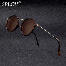 ¡Novedad! Gafas De Sol redondas SPLOV Retro para hombre y mujer, gafas De Sol De marca De diseñador con revestimiento clásico con espejo, gafas De Sol UV400