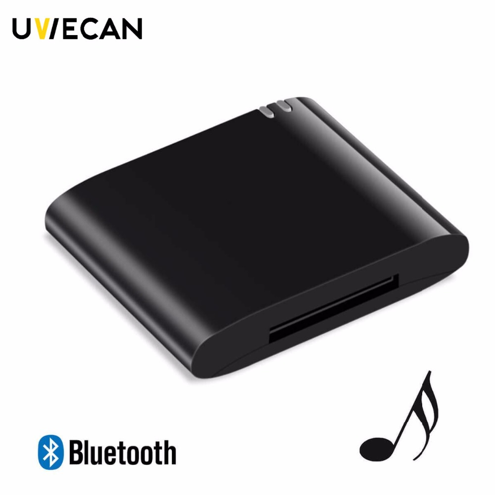 Portable Wireless 30pin Bluetooth Music Receiver Dock Audio Adapter Stereo a2dp for Bose Sounddock Speaker Boombox plug and play bluetooth a2dp music audio 30 pin receiver adapter for ipod iphone ipad speaker dock audio music receiver black eletronic hot