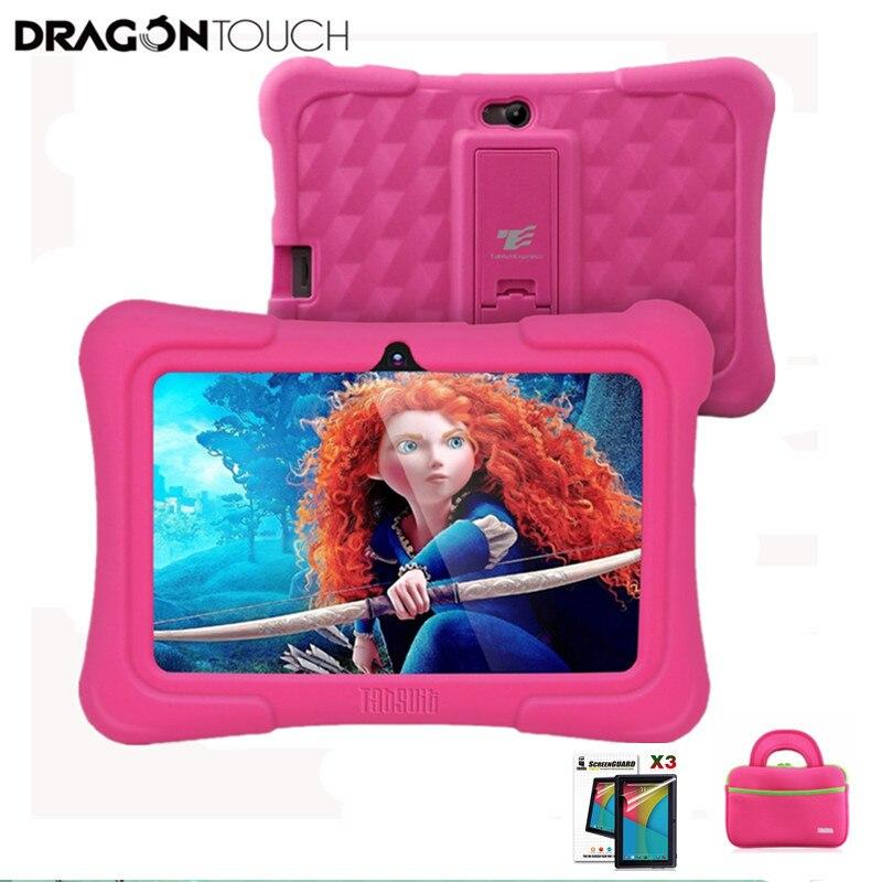 Dragon touch y88x Plus Детские планшеты нам разъем для детей 4 ядра Android 5,1 + чехол для планшета + Экран Protector подарки для детей