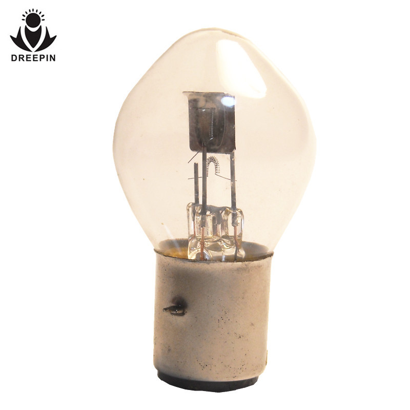 DREEPIN motorcycle lamp B35 S2 12V 35/35W ba20d headlight halogen bulb for motor ATV motorbike scooter OEM drop shipping 4PCE