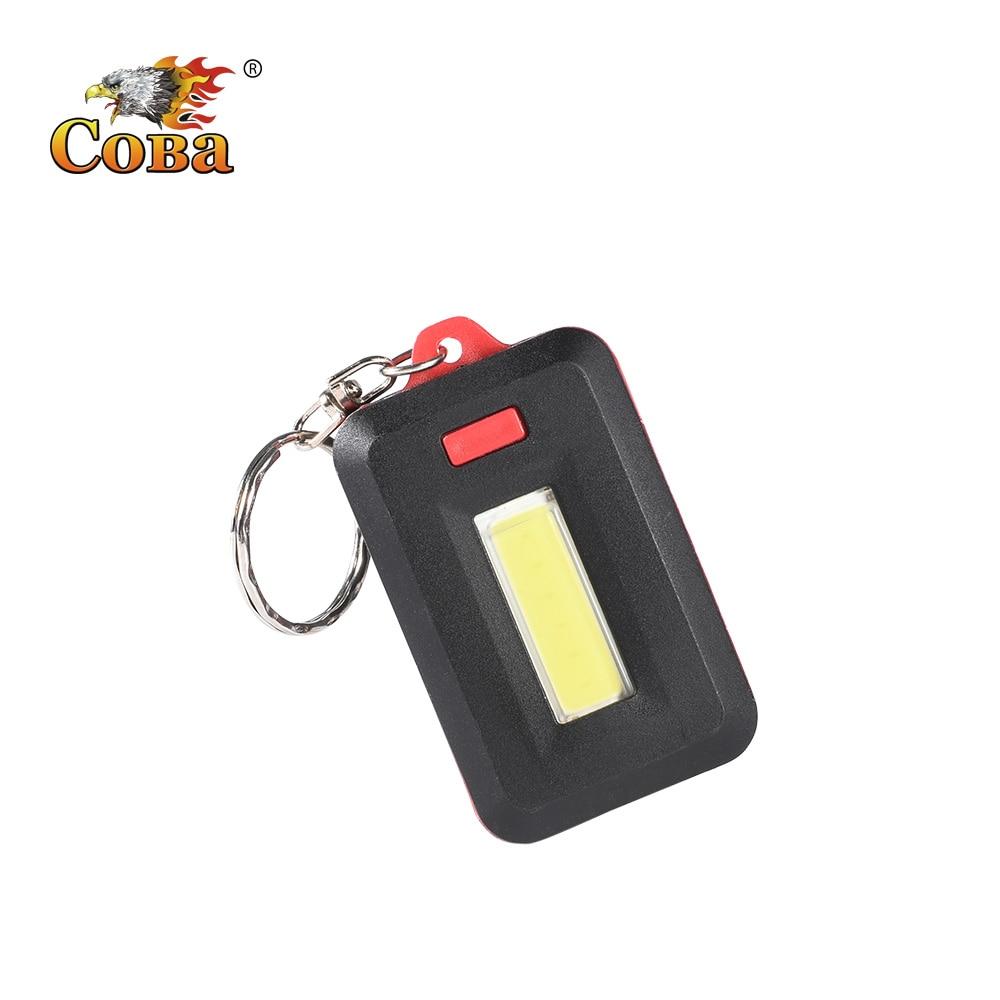 Coba Led Mini Flashlight Keychain Light Portable Flash Light New Applicable Small Light 3*AAA 3 Modes Colorful Shell Key Lamp
