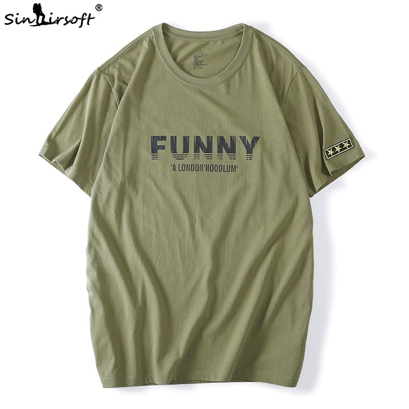 SINAIRSOFT Brand Men 39 s T shirt 100 Cotton Casual Short sleeved Loose Large Size 5XL Army Green T shirt Shirt Men 39 s New Hot Sale in T Shirts from Men 39 s Clothing