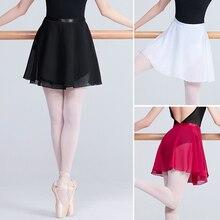 Girls Adult Ballet Skirt Wrap Sheer Chiffon Tie Skirts Women Leotards Skirt Ballet Practice Dance Wear