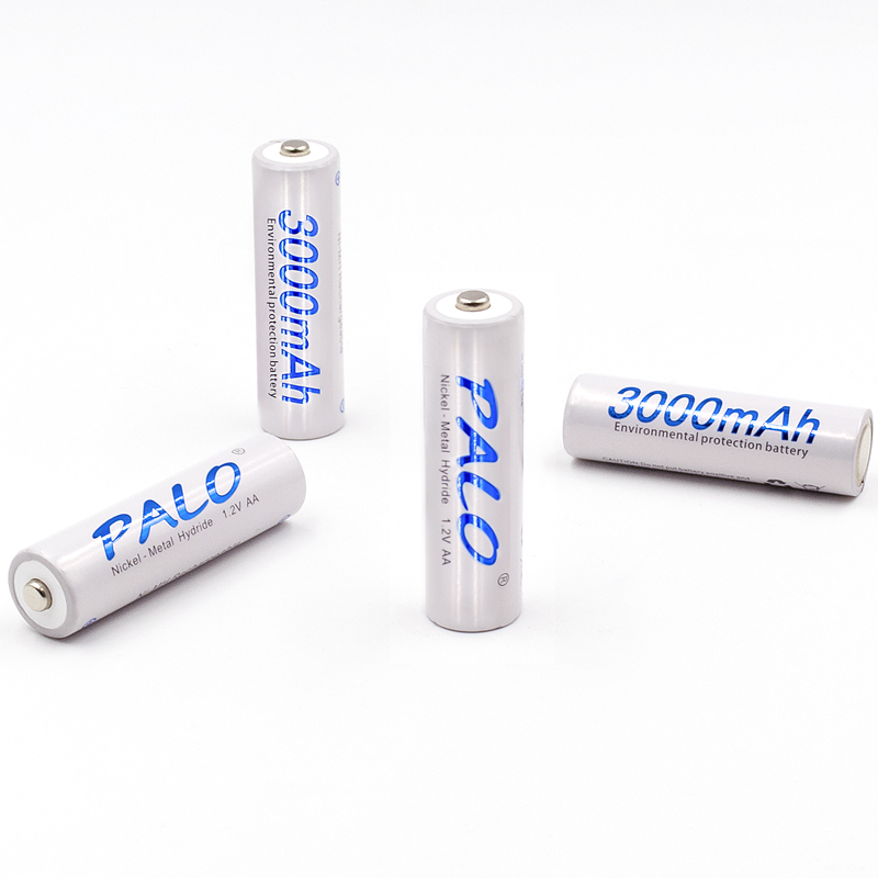 20pcs/5card PALO AA Rechargeable Battery AA Ni-MH 1.2V 3000mAh Ni-MH 2A Pre-charged Bateria Rechargeable Batteries for Camera