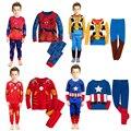 Пижама хлопок мальчиков комплект железный человек / бэтмен / человек паук / капитан америка / супер герои всё для детей одежда и аксессуары - фото