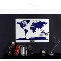 NEW HOT High Quality Luminous Deluxe Scratch Map 1Piece World Map Scratch Travel Scratch Off Maps