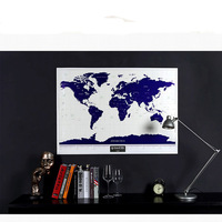 NEW HOT High Quality Luminous Deluxe Scratch Map 1Piece World Map Scratch Travel Scratch Off Maps