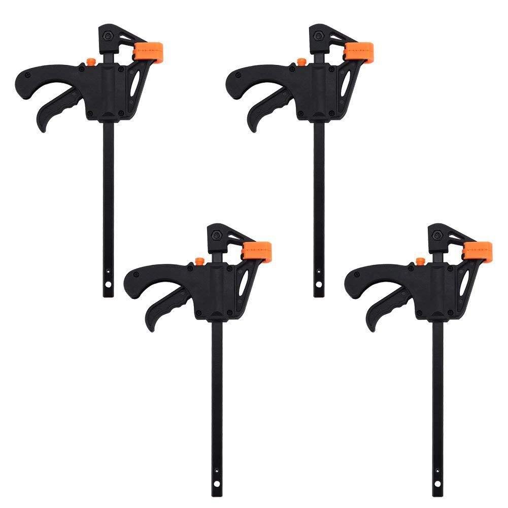 Kunststoff F Schellen Set 4-Stück, 100mm 4 zoll Bar F Schellen Clip Grip Schnell Ratsche Release Holzbearbeitung DIY Hand Tool Kit