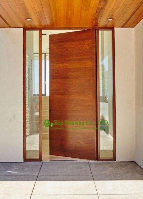 interior puerta pivotante costo quicio de la puerta de madera de diseo moderno - Puerta Pivotante
