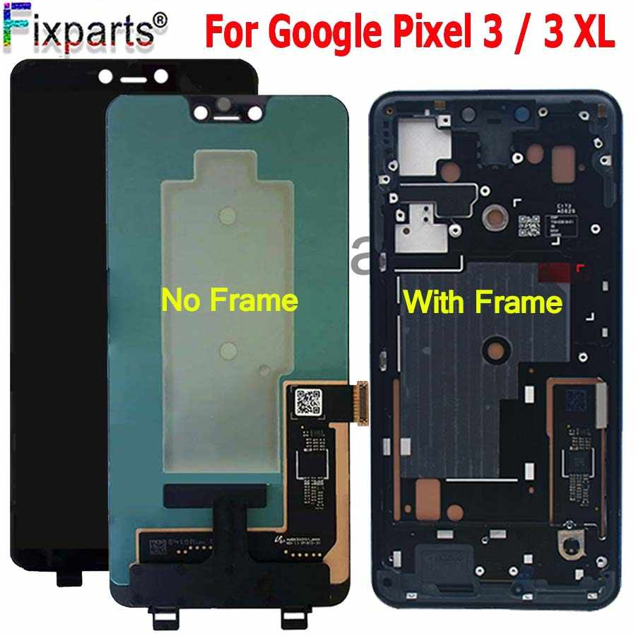"For 6.3"" Google Pixel 3 LCD Display Touch Screen Digitizer Assembly For Google Pixel 3 XL LCD Pixel2 Pixel3 XL LCD Replacement"