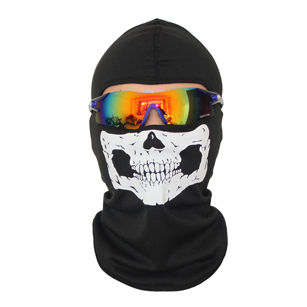 Head Cover Outdoor Mask With Skull Head Bicycle Full Face Ghost Mask Skeleton Hats Tactical Cosplay Costume for Christmas купить